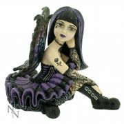 Amaya Little Shadows Goth Fairy Girl Figurine Gothic Gift By Nemesis Now